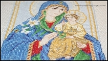 Matka Boska z Dzieciątkiem -  Haft krzyżykowy