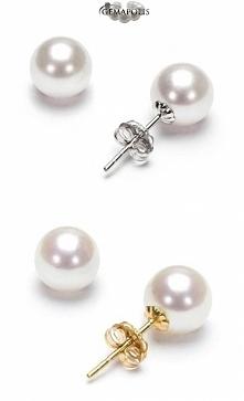 Kolczyki z perłami na sztyftach w rozmiarach: 7-7,5mm lub 7,5-8mm (średnica perły)