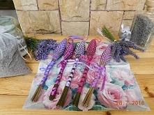 Fusetka nazywana też lawendowym  wrzecionkiem jest wykonana ręcznie z łodyżek...
