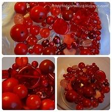 koraliki czerwone