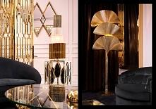 Złoto i czerń meble w stylu modern classic