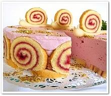 Tort malinowy ślimaczek (więcej po kliknięciu w zdjęcie)