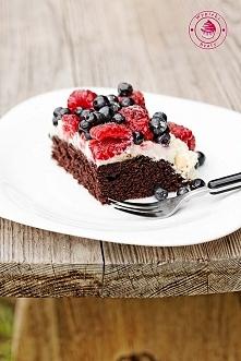 Czekoladowe ciasto bez jajek - Wypieki Beaty