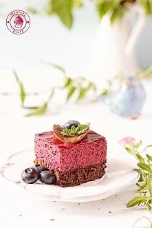 Brownie z jagodowym musem - Wypieki Beaty