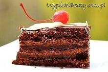 Torcik mocno czekoladowy - Wypieki Beaty