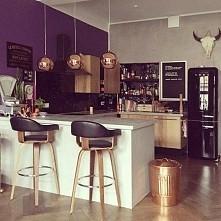 fiolet w kuchni