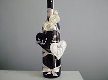 Butelka wina zamiast kwiató...