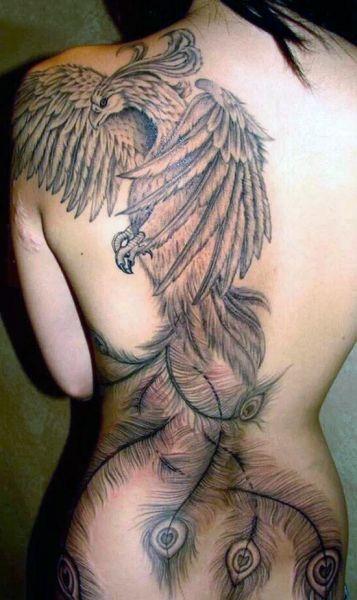 Tatuaże Damskie Phoenix Na Plecach Na Tatuaże Zszywkapl