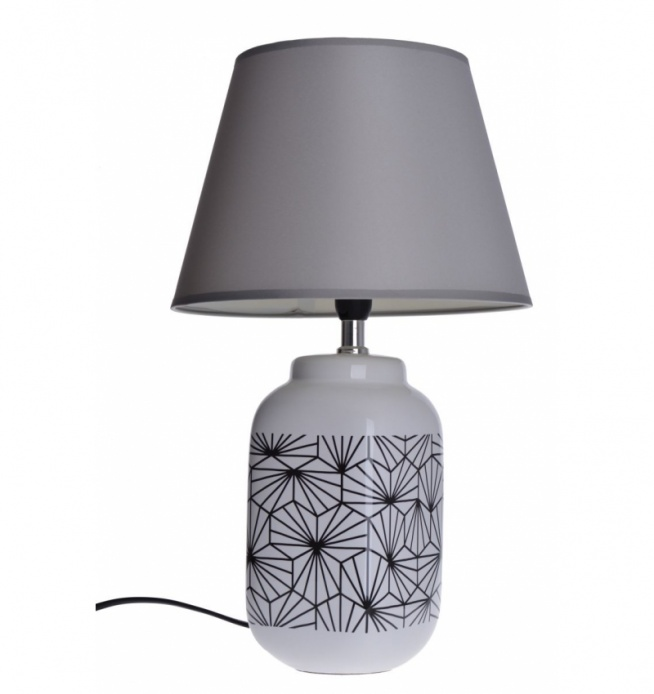 Lampa stołowa we wzory