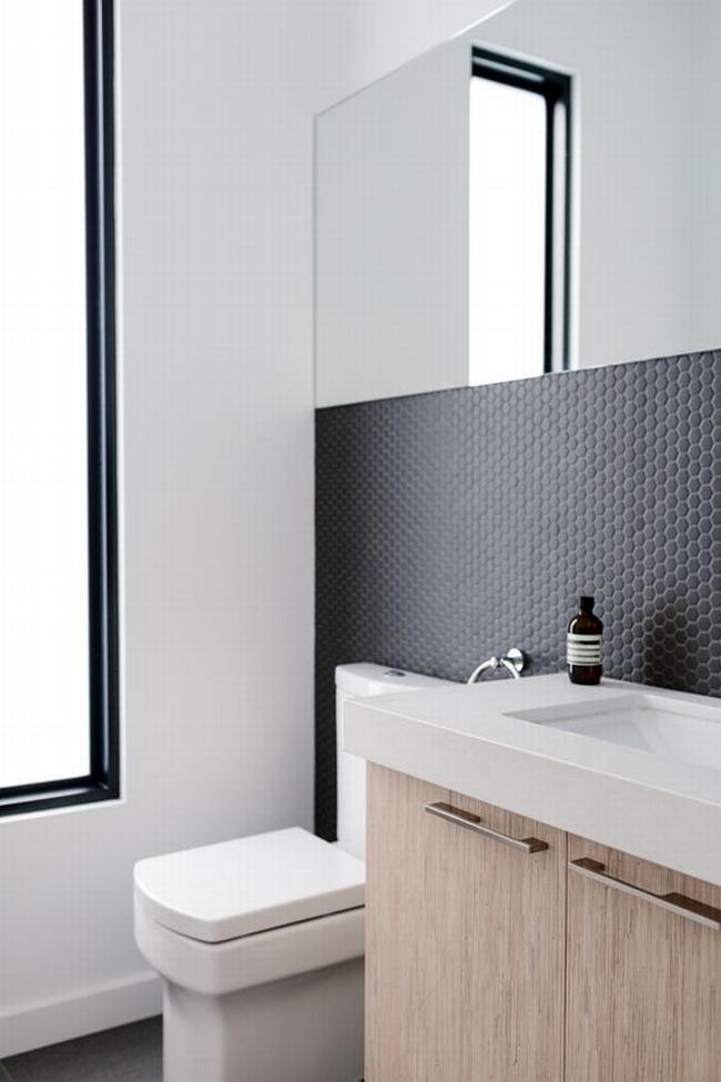 Prosty Design Mała łazienka Elegancka Mała łazienka Mała