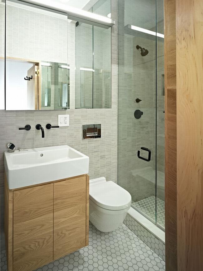 Prosty Design łazienki Mała Nowoczesna łazienka Jasna