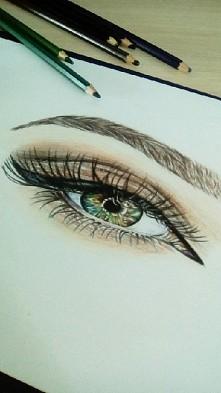 Co sądzicie..? 4 godziny rysunku:)Efekt byłby lepszy gdyby zdjęcie nie popsuł...