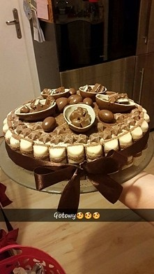mmm moje dzieło tort chalwowo czekoladowy