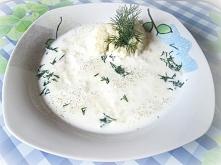 Zupa jaglana z koperkiem z maślanką