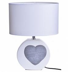 Lampa ceramiczna z sercem