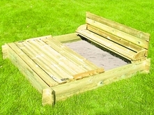 Piaskownica drewniana dla dzieci