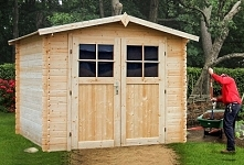 Drewniany domek do ogrodu: rozwiązanie kwestii przechowywania narzędzi, mebli i sprzętów ogrodniczych