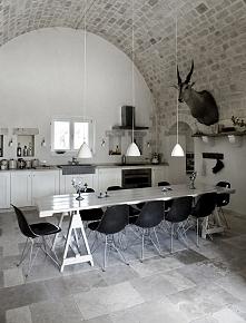 Stylowa kuchnia, kamienna kuchnia, włoska kuchnia, kuchnia we włoskim domu, k...