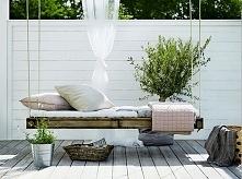 Huśtawka w ogrodzie DIY, huśtawka ogrodowa z europalet, huśtawka do ogrodu - ...