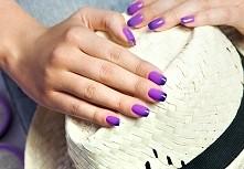 Efekt paznokci ombre uzyskany dzięki lakierowi hybrydowemu Neonail Termo, kol...