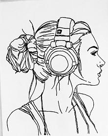 instagram- itsmadikar Moja praca w stylu lineart