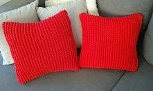 Bawełniane,dziergane poduszki, ekologiczne. Oryginalny dodatek do nowoczesnych wnętrz i nie tylko. Made by Sznureczkowo