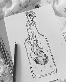 I Drowned my heart in a bottle of vodka        .... uwielbiam rysowac węglem,...