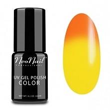 Kolor Tequila Sunrise od Neonail Termo - jeden lakier, dwa kolory. Odcień zal...