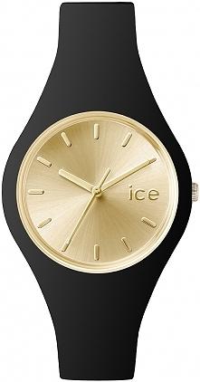 Czarny zegarek z tarczą w odcieniach złota. Nowoczesna elegancja w wydaniu marki ICE Watch
