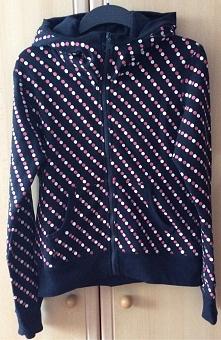 NOWA bluza z kapturem mięsista i ciepła w kropki S/M