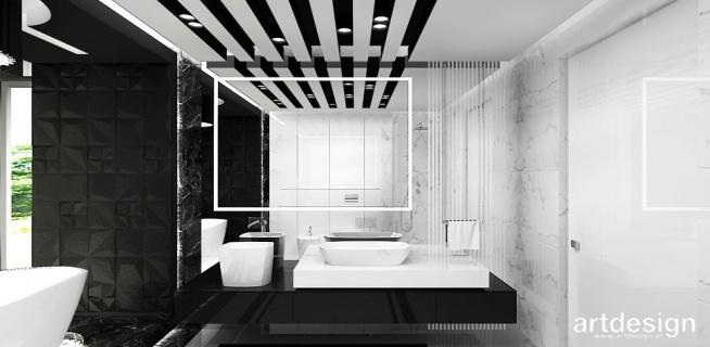czarno-biała łazienka   JUST DO IT!