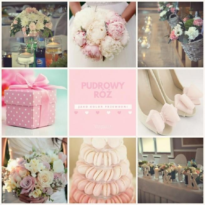 Pudrowy Róż Dekoracje ślubne Na Wedding Zszywkapl