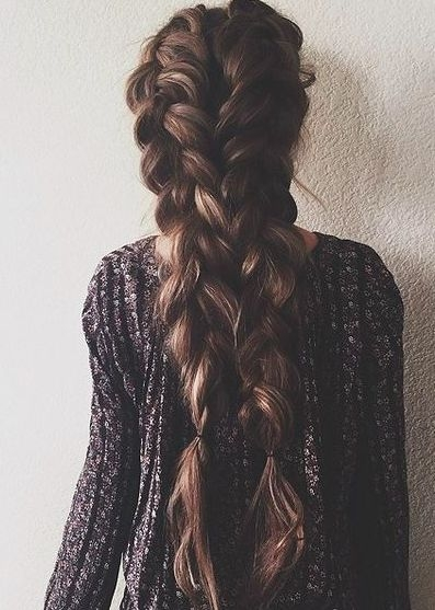 Brown long hair :#