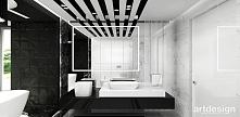 czarno-biała łazienka | JUST DO IT!