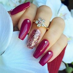 fushia silver nails