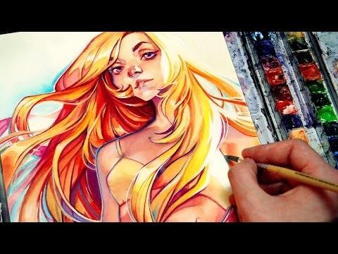 Digital Art in Watercolor - Summer by loish