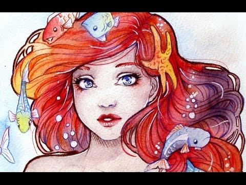 Watercolors Tips and Tricks - Ariel Portrait