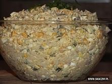 Sałatka z makaronem z zupek chińskich i kiełbaską 2 zupki chińskie 5 jajek 1 ...