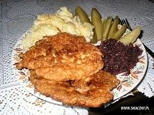 """Super kotlecik drobiowy 1 pierś kurczaka (połowa """"serduszka"""") 2 łyż..."""