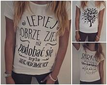 bluzki print  kolor biel oraz szary melanż.  TANIO !!!  link w komentarzu :) Zapraszam
