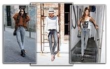 marmurkowe jeansy