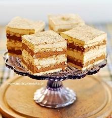 Ciasto cappuccino z nutellą na herbatnikach. Przepis po kliknięciu w zdjęcie.