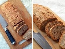 Mój domowy chleb pełnoziarnisty. Przepis zrobiłam na kocią łapę :) 800 g mąki...