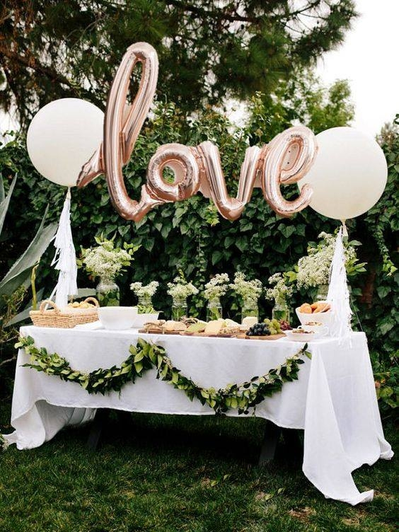 dekoracja z balonami LOVE :)