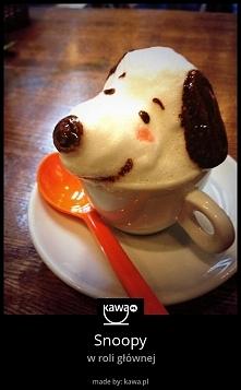 Kawa w 3D ze Snoopy'm!