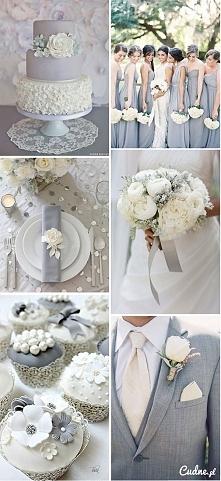 wesele w bieli i szarości :)