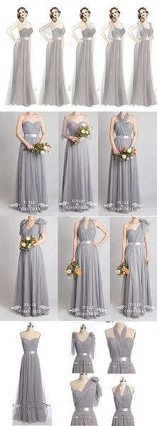 Wzory długich sukienek dla ...