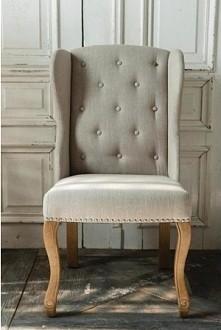 stylowy fotel, francuski fotel z kołatką