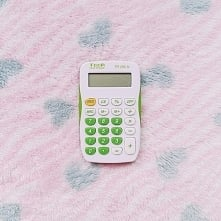 calculator, small, white, g...