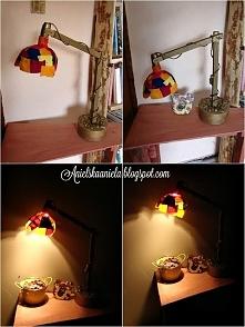 Jak zrobić klosz do lampy ze skrawków materiału.